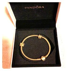 Pandora 14k bracelet 6.7